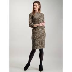 c67359a7b46 Brown Brushed Animal Print Shift Dress
