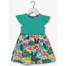 Multicoloured Jungle Animal Print Dress (9 Months - 6 Years)