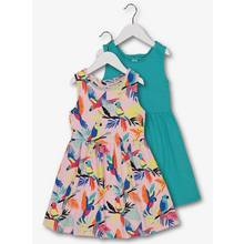 Multicoloured Paradise Print Dress 2 Pack (3 - 14 Years)