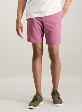 Dark Pink Chino Shorts With Stretch