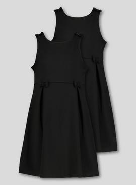 Black Jersey Pinafore 2 Pack