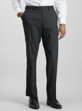 Black Pinstripe Tailored Trouser With Stretch