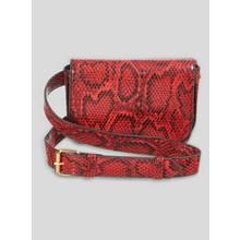 Red & Black Snake Print Belt Bag - One Size