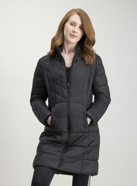 Navy Shower Resistant Padded Jacket In A Bag