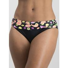 Black & Neon Tropical Fruit Print Bikini Briefs