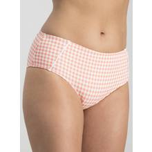 Orange & White Gingham High Waisted Bikini Briefs
