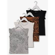 Multicoloured Animal Print Tops 4 Pack (3 - 14 years)