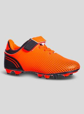 Orange Football Boots With Studs