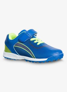 Blue & Neon Astro Turf Football Trainers