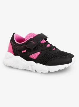 Black & Pink Back To School Trainers