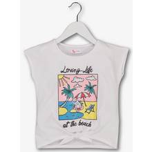 White Glitter Beach Top (3 - 14 Years)