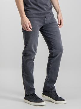 Online Exclusive Grey Slim Fit 4 Way Stretch Denim Jeans