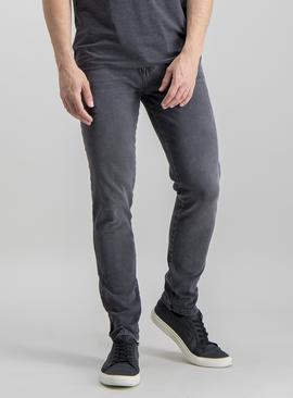 Grey Skinny Fit 4 Way Stretch Denim Jeans