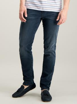 Blue Black Skinny Fit 4 Way Stretch Denim Jeans