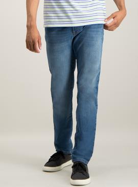 Blue Slim Fit 4 Way Stretch Denim Jeans