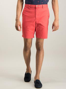 Red Chino Shorts With Stretch