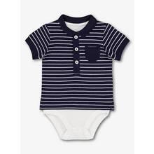 Navy Stripe Polo Shirt Bodysuit