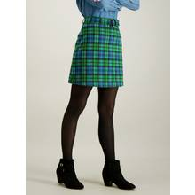 Multicoloured Check A-Line Mini Skirt With Belt