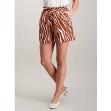 Russet Zebra Stripe Paperbag Shorts