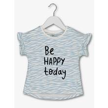 Blue 'Be Happy Today' Slogan T-Shirt (9 Months - 6 Years)