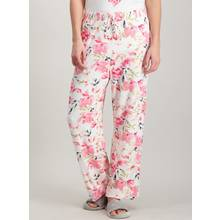 Cream & Pink Floral Pyjama Bottoms