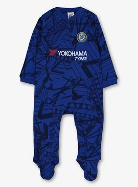 Online Exclusive Chelsea Football Club Blue Sleepsuit