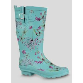 Blue Floral Print Wellies