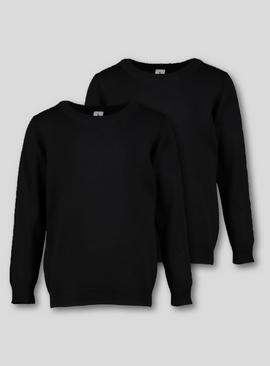 Navy Crew Neck Jumpers 2 Pack