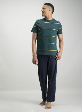 Dark Green Stripe Pyjamas