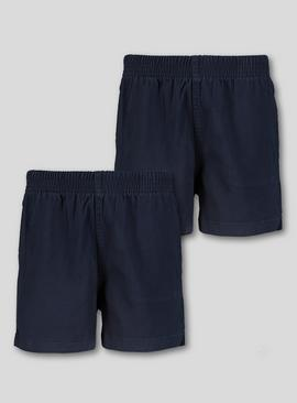 Navy Woven Rugby Shorts 2 Pack