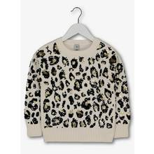 Cream Leopard Print Sequin Jumper (3 - 14 years)