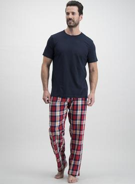 Navy & Red Check Pyjamas