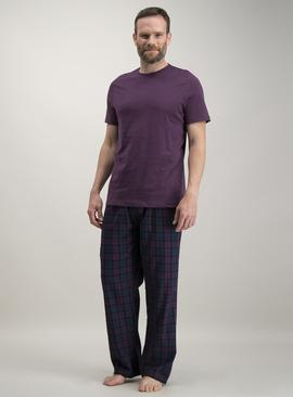 Purple & Navy Check Pyjamas