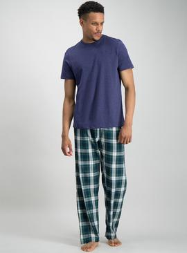 Navy & Green Check Pyjamas