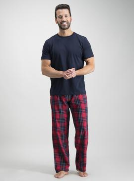 Online Exclusive Navy & Red Check Pyjama Set