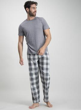 Grey & Cream Check Pyjamas