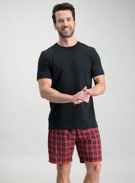 Online Exclusive Red & Black Check Short Pyjamas