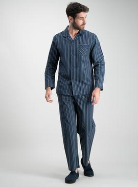 Green & Navy Stripe Traditional Pyjamas