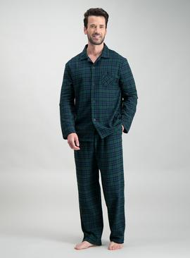 Green Blackwatch Check Traditional Pyjamas
