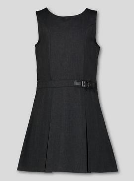 Grey Buckle Detail Pinafore