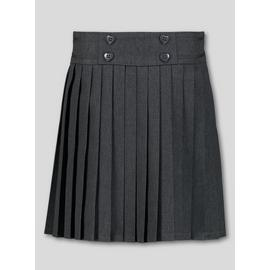 Grey Permanent Pleat Skirt