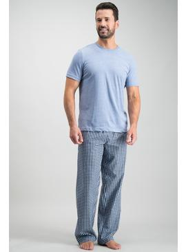 Blue & Navy Gingham Pyjamas