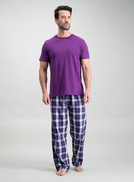 Purple Check Pyjamas