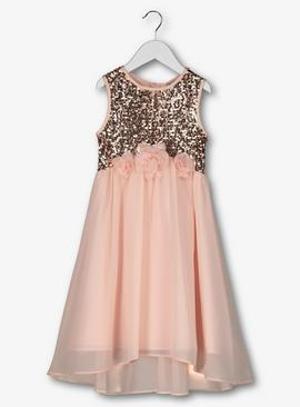 Pink Sequin Bridesmaids Dress