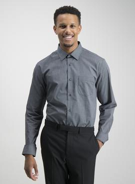 Black Grid Check & Gingham Tailored Fit Shirts 2 Pack