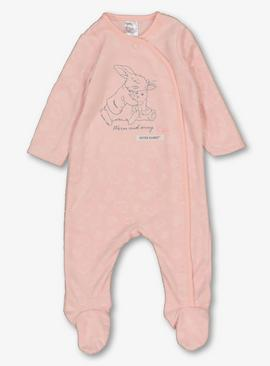 Peter Rabbit Pink Fleece All In One