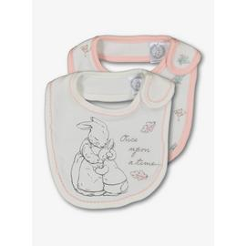 Peter Rabbit Cream & Pink Bib 2 Pack - One Size