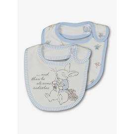 Peter Rabbit Cream & Blue Bib 2 Pack - One Size