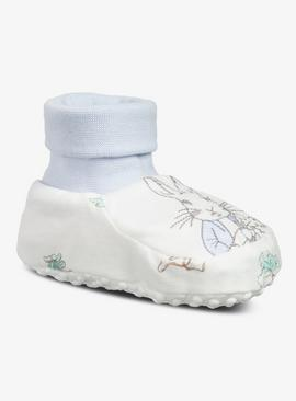 Peter Rabbit Peter Blue Embroidered Bootie
