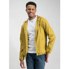 Ochre Yellow Fleece Hood Shower Resistant Mac